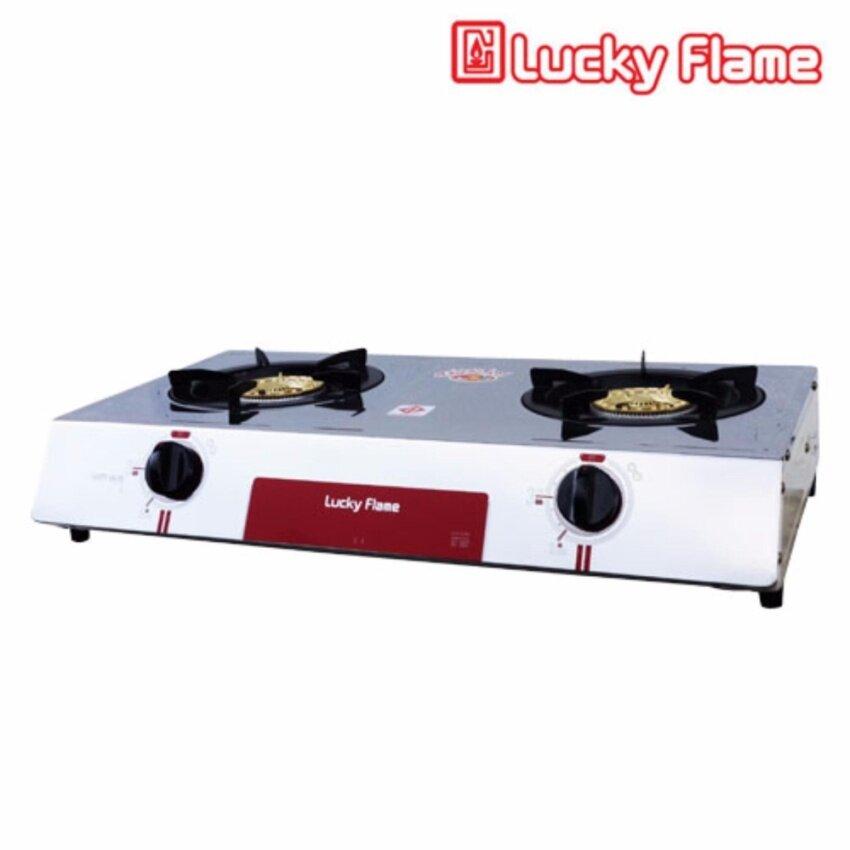 เตาแก๊สหัวคู่ แบบตั้งโต๊ะ Lucky Flame AT102