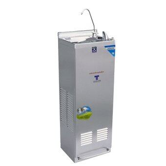 Maxcool ตู้ทำน้ำเย็น กด 2 ทาง รุ่น MC-6F แบบต่อท่อ (มือกดเท้าเหยียบ - แบบมีงวง)