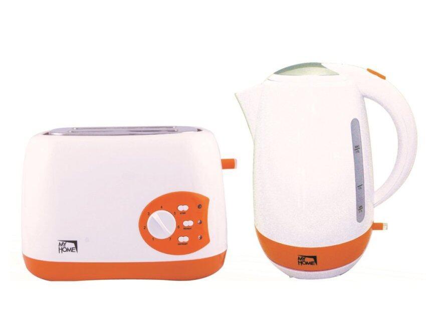 My Home กาต้มน้ำ รุ่น KT1803 และเครื่องปิ้งขนมปัง รุ่น TL126 - สีส้ม/ขาว