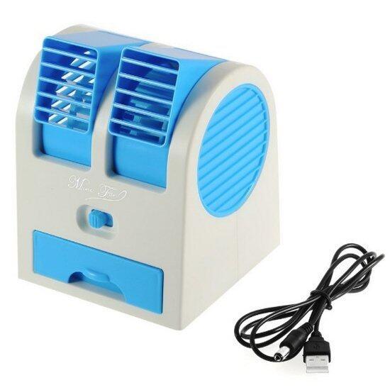 พัดลมไอเย็น Mini ตั้งโต๊ะUSB MINI FAN Air HB-168 (สีฟ้า)