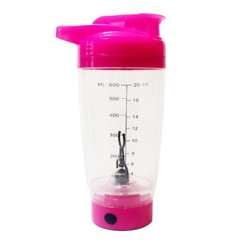 Promixx แก้วอัตโนมัติ ผสมเชค หรือเครื่องดื่มอื่นๆ (สีชมพู)