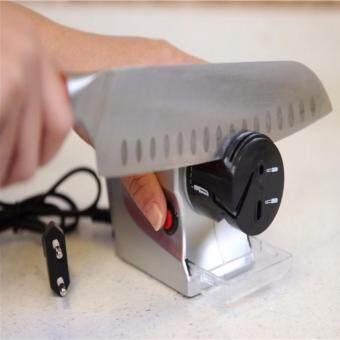 RAMADA เครื่องลับมีดไฟฟ้าเอนกประสงค์ใช้ไฟบ้านและใช้ลับด้วยมือในเครื่องเดียวลับได้คมกริบเหมือนใหม่สะดวกทันใจ ELECTRIC MANUAL KNIFE SHARPENER 2 IN 1 (GREY)