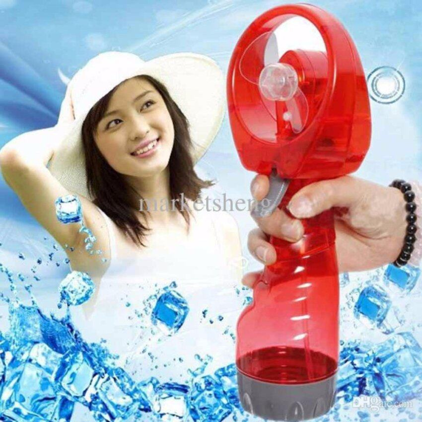 RAMADA พัดลมไอน้ำพกพาไล่ลมร้อนให้ลมเย็นฉ่ำสบายสดชื่น WATER SPRAY FAN (RED) ...