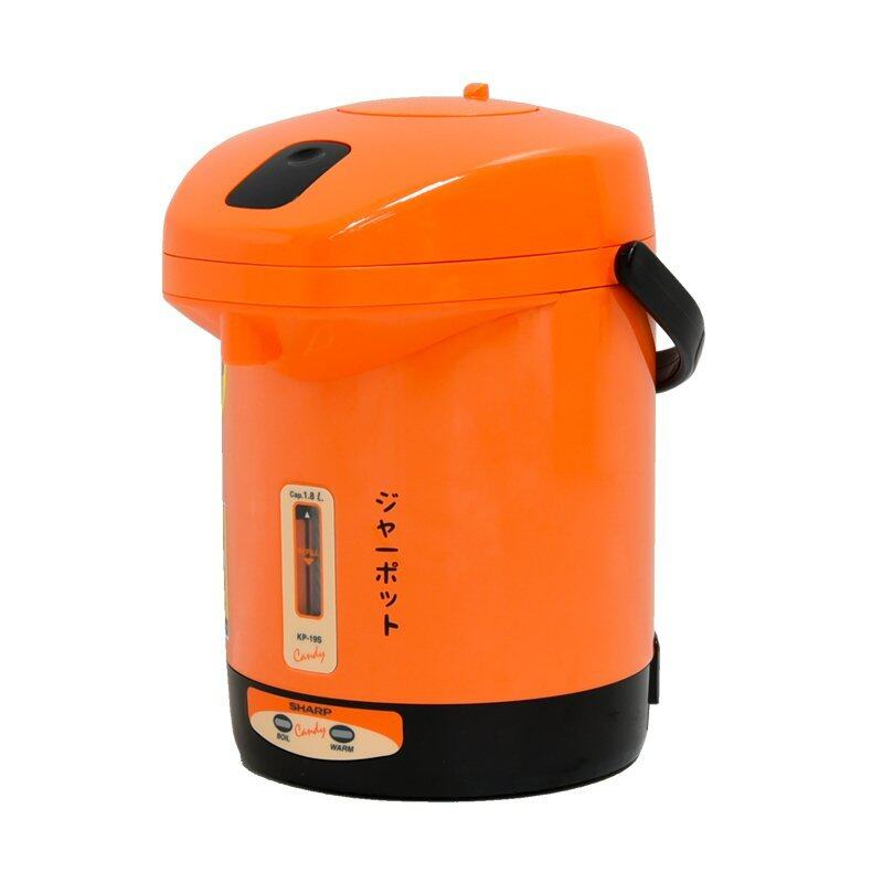 SHARP กระติกน้ำร้อนไฟฟ้า 1.8 ลิตร รุ่น KP-19S (สีส้ม)