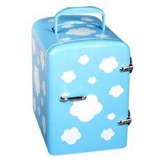 ตู้เย็นขนาดเล็กสำหรับพกพา shop108 - รุ่น 4L สีฟ้าลายเมฆ