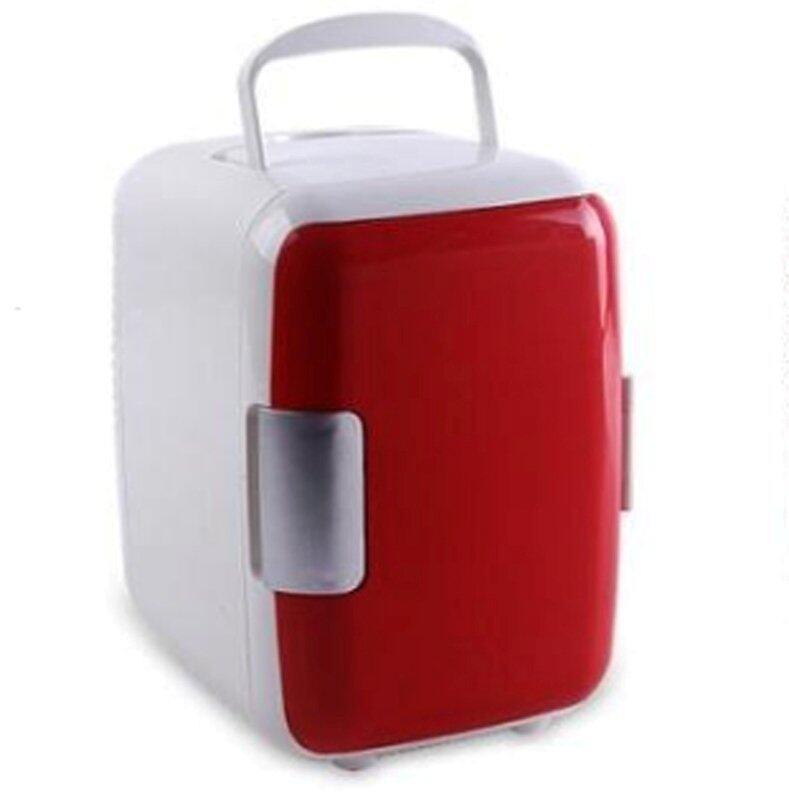 shop108 ตู้เย็นเล็กแบบพกพา รุ่น Mini 4L - สีแดง/ขาว