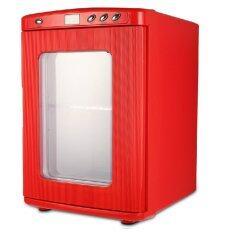 shop108 Mini Fridge 25L ตู้เย็นอเนกประสงค์แบบพกพา รุ่น 25 ลิตร - Red
