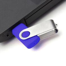 128M Foldable USB 2.0 Swivel Flash Memory Stick Blue
