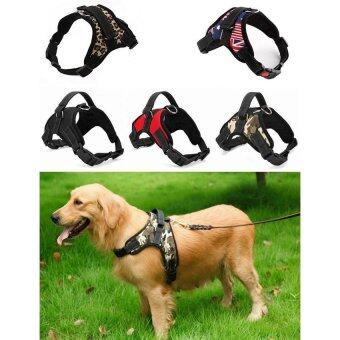 Hot Sale Dog Soft Harness Adjustable Pet Dog Big Exit Harness Vest Collar Strap for Small and Large Dogs Pitbulls - Red (L) - intl (image 0)