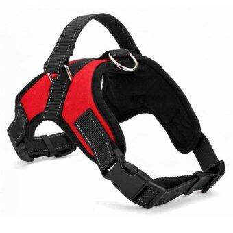 Hot Sale Dog Soft Harness Adjustable Pet Dog Big Exit Harness Vest Collar Strap for Small and Large Dogs Pitbulls - Red (L) - intl (image 1)