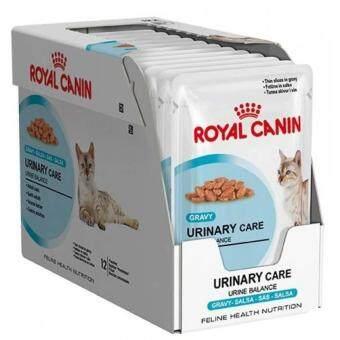 Royal Canin Urinary Care Pouch Gravy x 12 Pouches อาหารชนิดเปียก แบบซอง สำหรับแมวโตอายุ1ปีขึ้นไป สูตรช่วยดูแลทางเดินปัสสาวะส่วนล่าง (เกรวี่) 12ซอง/กล่อง