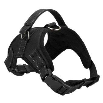 Pet Dog Soft Adjustable Harness Pet Walk Out Hand Strap Vest Collar (Black) (M) - intl