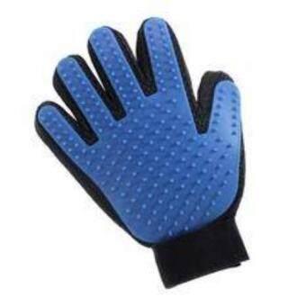 ถุงมือแปรงขนสัตว์ Cleaning(Blue)
