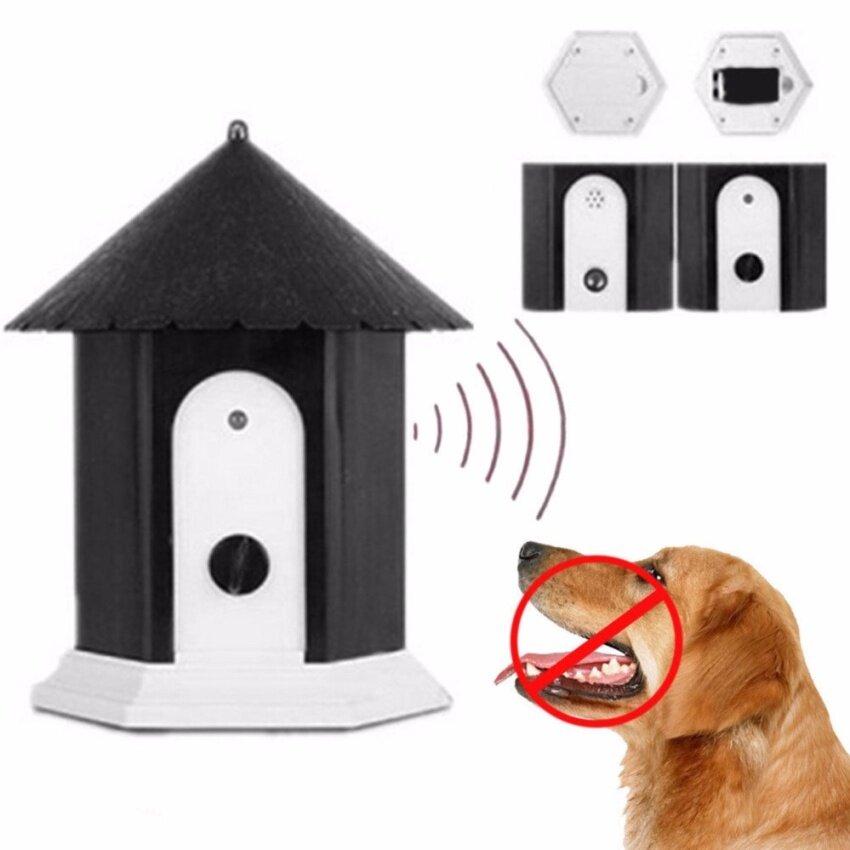 เครื่องฝึกและควบคุมพฤติกรรมสุนัข ไม่ให้เห่ารบกวนเพื่อนบ้าน อุปกรณ์แขวนหรือตั้งกลางแจ้ง ท ...
