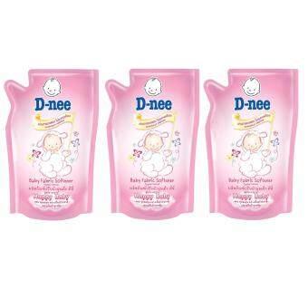 D-nee ดีนี่น้ำยาปรับผ้านุ่มเด็กสีชมพู 600มล. (แพ็ค 3ถุง)