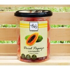 Mr.&Mrs.มะละกออบแห้ง 200g (Dried Papaya 200g) (2 กระป๋อง)