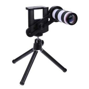 12X Mobile Phone Telephoto Lens Telescope Monocular with Tripod for iPhone8 - intl
