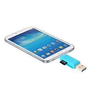 1pc Universal Card Reader Mobile phone PC card reader Mini USB OTG Card Reader(blue)