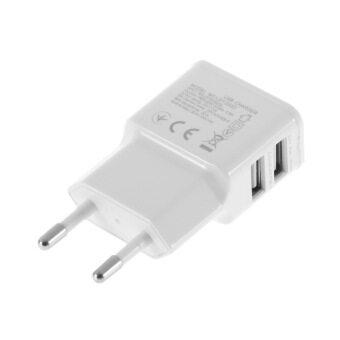2 amps คู่ 2Ports USB อะแดปเตอร์ชาร์จด้านอียูสำหรับ Samsung iPhone HTC MOTO