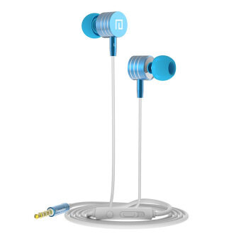 2016 Fashion Langsdom I-7 New Subwoofer Metal Ear Mobile Phone Headset (Blue) - intl