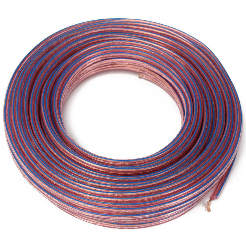 20M Metre 2x0.75mm2 Multi-Strand Loud Speaker Cable/Wire for Home Car Audio (Multicolor)