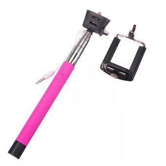 21-106cm Telescopic Handheld Monopod Selfie Stick for iphone 6 6 Plus Sony Htc LG Moto (Pink)