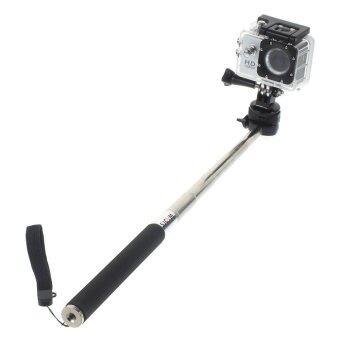 21.5cm Extendable Handheld Selfie Monopod for SJCAM Cameras and GoPro Action Cameras (Black)