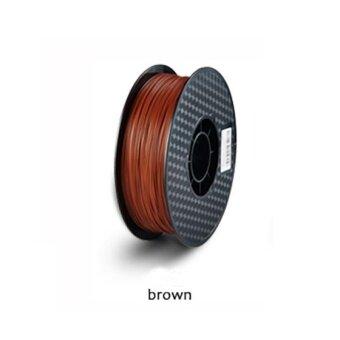 24 Colors 3D Printer Filament PLA 1.75mm material 1KG Plastic Rubber Consumables Material for printer(Brown) - intl