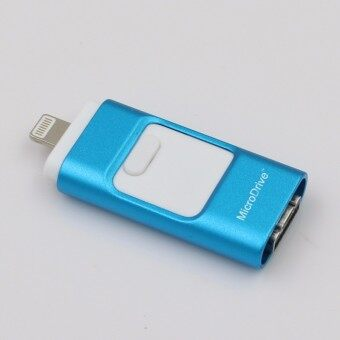 3 in 1 memory stick 128GB Otg Usb Flash Drive For iPhone7/ipad/PC/Android—blue - intl