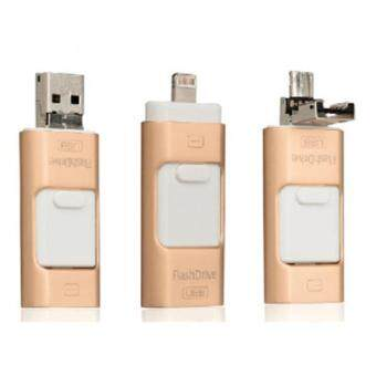 3 in 1 memory stick 32GB Otg Usb Flash Drive For iPhone7/ipad/PC/Android—gold - intl