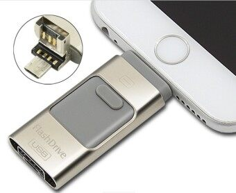 3 in 1 memory stick 32GB Otg Usb Flash Drive For iPhone7/ipad/PC/Android—silver - intl