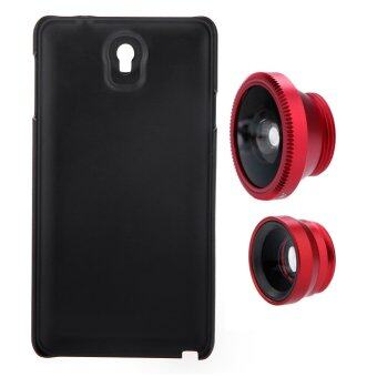 3-in-1 Phone Photo Lens 180� Fisheye 0.67X Wide Angle 10X Macro Set with Case for Samsung Galaxy Note3