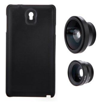 3-in-1 Phone Photo Lens 180 Fisheye 0.67X with Case for Samsung Galaxy Note3 (Black)