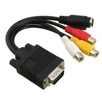 3 RCA AV Adapter VGA to S-Video Converter