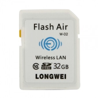 32GB Class 10 SD Card with Wireless LAN WiFi (White) - intl