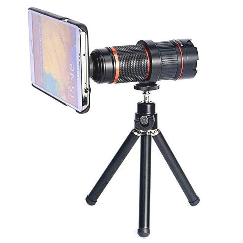 4-12x Zoom Optical Magnification Micro Telephoto Camera Lens Tripodfor Samsung Galaxy S5(Black) - Intl