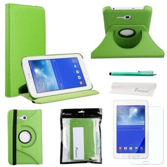 4-in-1 PU Flip Case Cover Set for Samsung Galaxy Tab 3 Lite 7.0 T110 T111 (Green)