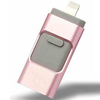 64GB 64GB 64GB OTG USB Flash Drive for iphone 6/5 ipad lightning Pen drive Micro Usb(Pink) - intl