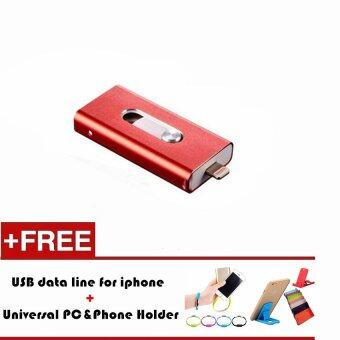 8GB i-Flash Drive Usb Pen Drive Lightning/Otg Usb Flash Drive For iPhone 5/5s/5c/6/6 iPad PC (Red)