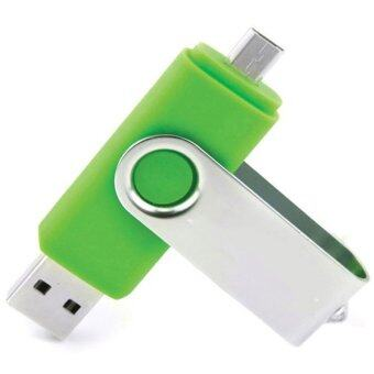 8GB OTG swivel Key chain USB 2.0 USB Flash Drives Storage Drive Memory Stick (Green) - INTL