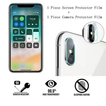 9H Tempered Glass Front Display Screen And Back Phone Camera Lens Protector Films For Xiaomi Mi 6 - intl