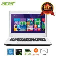 """Acer AspireE5-432G-P1J3/T008 Intel Pentium N3710/4GB DDR3L/500GB/14.0""""/Linux (White)"""