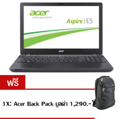 "Acer Notebook Aspire E5-432G-P7PY(NXMZJST008) PenN3710 4GB 500GB GT920M2GB Linux 14"" (Black) ฟรี 1X: Acer Back Pack มูลค่า 1,290.-"
