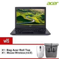 "Acer  Notebook E5-475-316S (NXGCUST005) i3-6006U 4GB 500GB 14.0"" Linux (Black) รับประกัน 1 ปี"