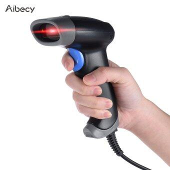 Aibecy 2D QR 1D USB Barcode Scanner CCD Red Light PDF417 Screen Scanning Bar Code Reader Support Multiple Language for Wechat Alipay Mobile Payment