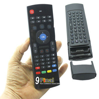 Air Mouse, Fly Mouse, Wireless 2.4 Ghz Mini Keyboard MX3 + Remote Control สำหรับ android TV BOX