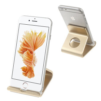 Aluminum Alloy Bracket for iPhone 6s Plus / Galaxy S7 - Champagne Gold