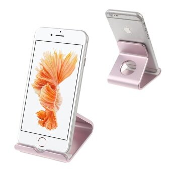 Aluminum Alloy Stand Holder for iPhone 6s Plus / Galaxy S7 - Rose Gold