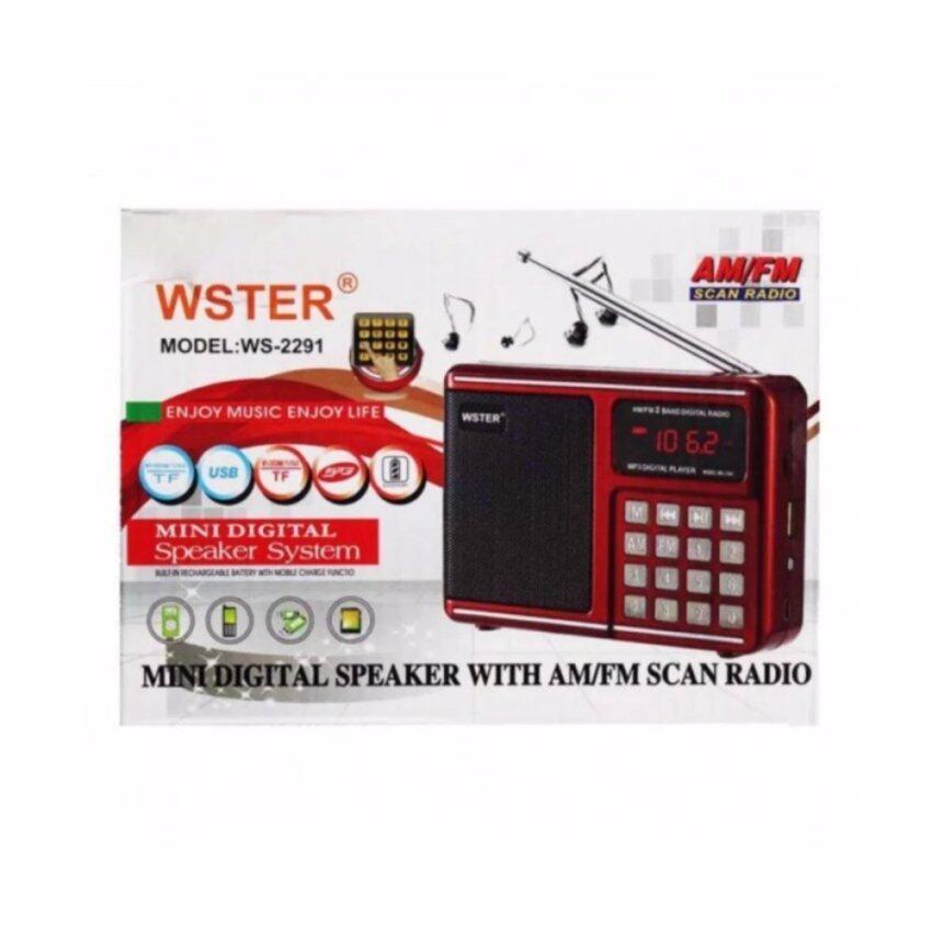 วิทยุ AM/FM พกพา WORLD RECEIVER WSTER WS-2291 ...