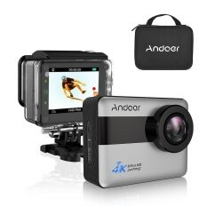 Andoer An1 4k Wifi Sports Action Camera 1080p Full Hd 20mp Novatek 96660 Chipset 2.31inch Touch Screen Support Gyroscope Anti-Shake 5x Zoom External Mic Voice Prompt With 170� Wide Angle Lens Waterproof 30m Hard Case - Intl ราคา 2,531 บาท(-41%)